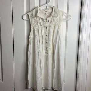 Free people size XS cream color hobo tunic blouse